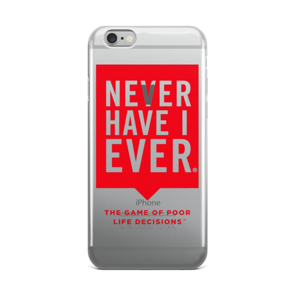Never Have I Ever Clear iPhone Case