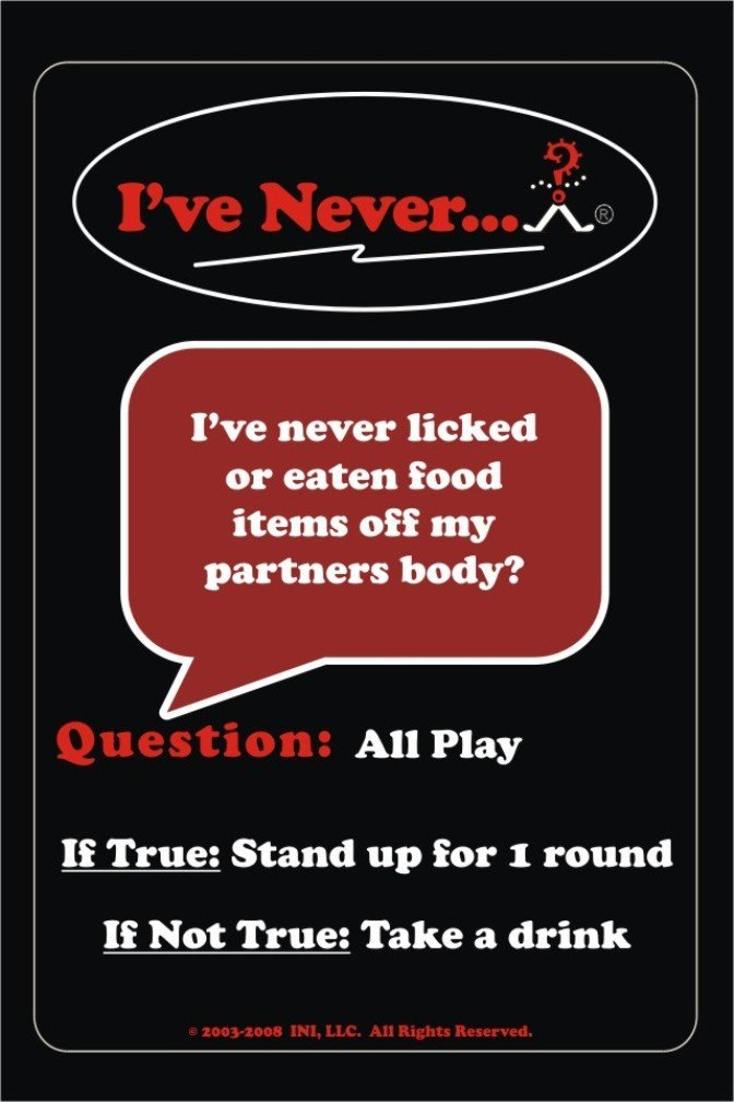 Ive Never Bar Cards Card Game For Adults INI LLC