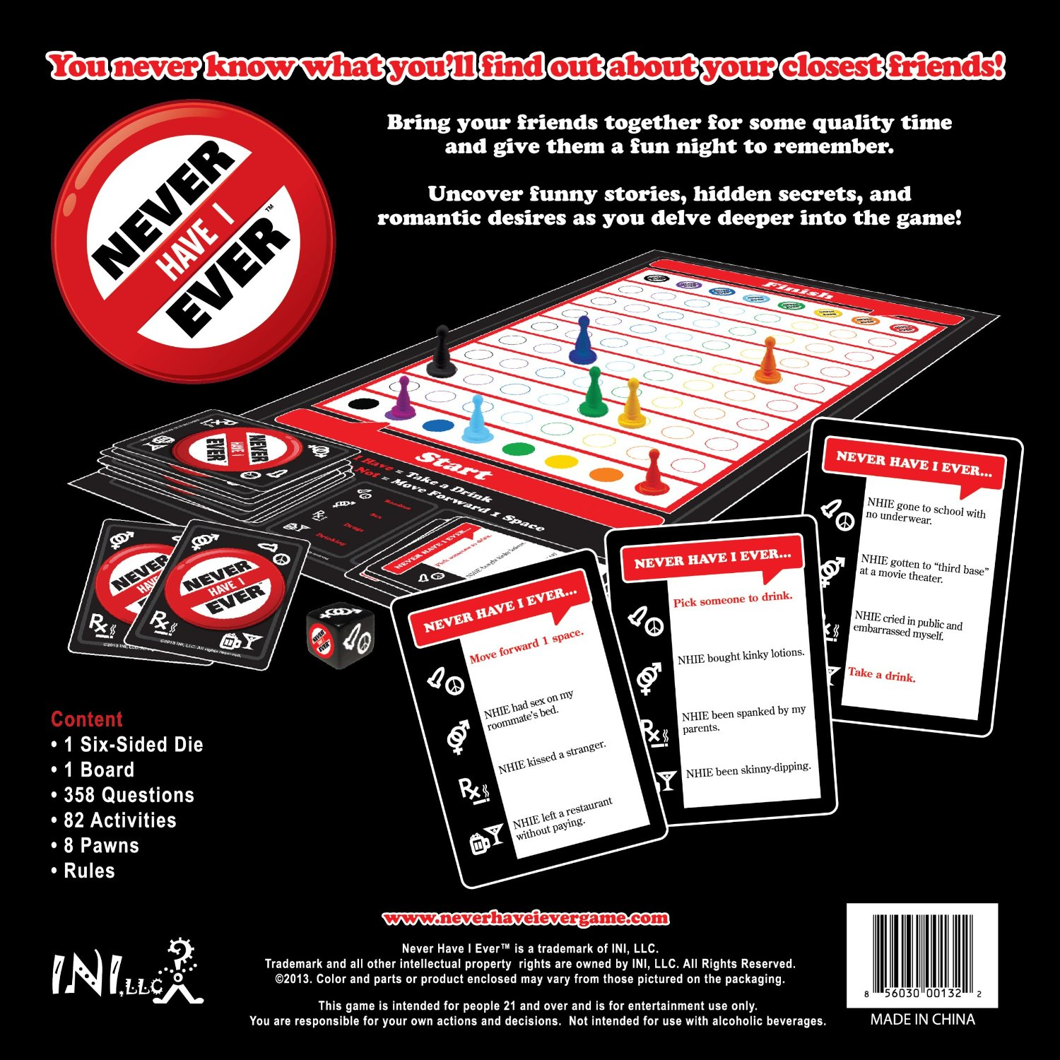 Never Have I Ever - The Classic Drinking Game | INI, LLC ...